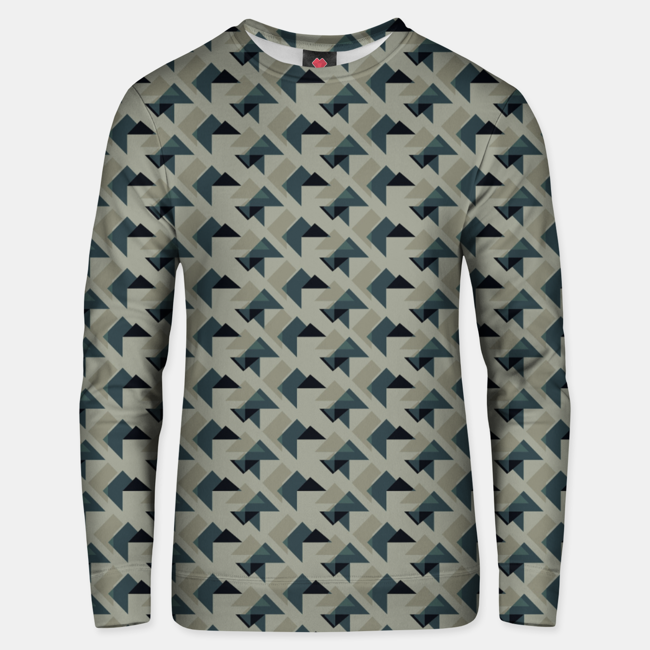 Image of Gray And Back Triangles Unisex sweater - Live Heroes