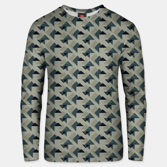 Thumbnail image of Gray And Back Triangles Unisex sweater, Live Heroes