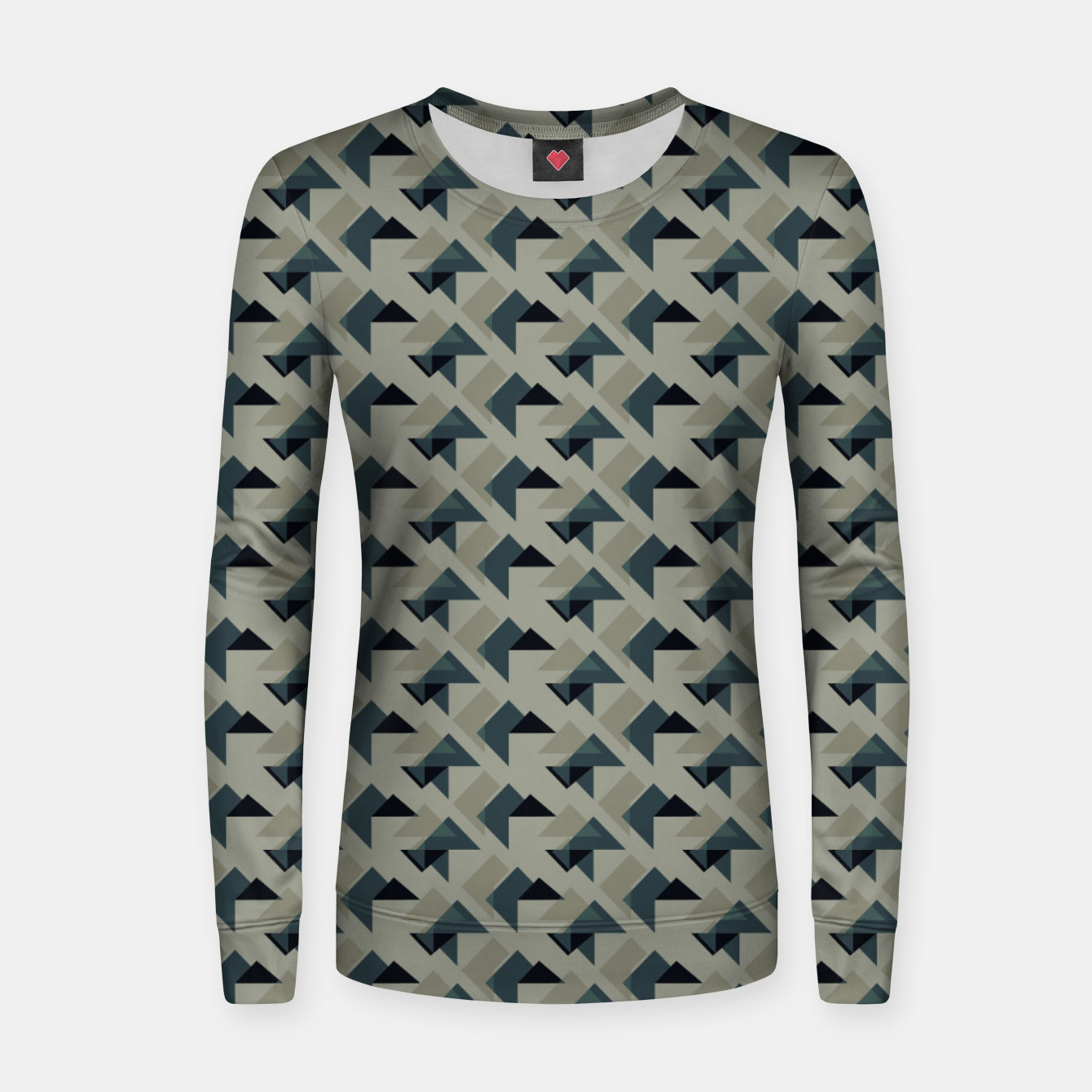 Image of Gray And Back Triangles Women sweater - Live Heroes