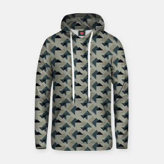 Thumbnail image of Gray And Back Triangles Hoodie, Live Heroes