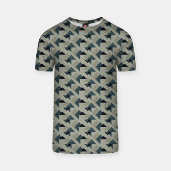 Thumbnail image of Gray And Back Triangles T-shirt, Live Heroes