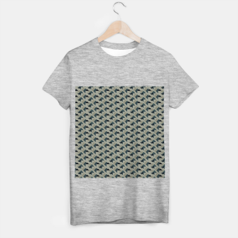 Thumbnail image of Gray And Back Triangles T-shirt regular, Live Heroes