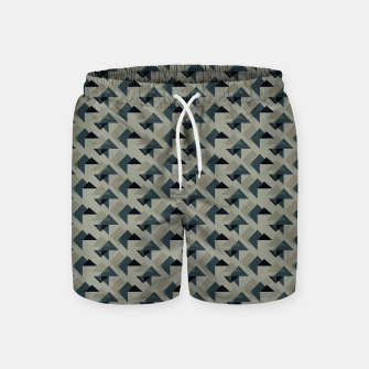 Thumbnail image of Gray And Back Triangles Swim Shorts, Live Heroes