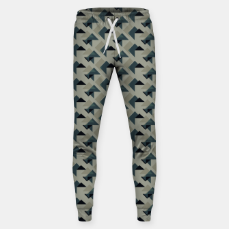 Thumbnail image of Gray And Back Triangles Sweatpants, Live Heroes