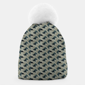 Thumbnail image of Gray And Back Triangles Beanie, Live Heroes
