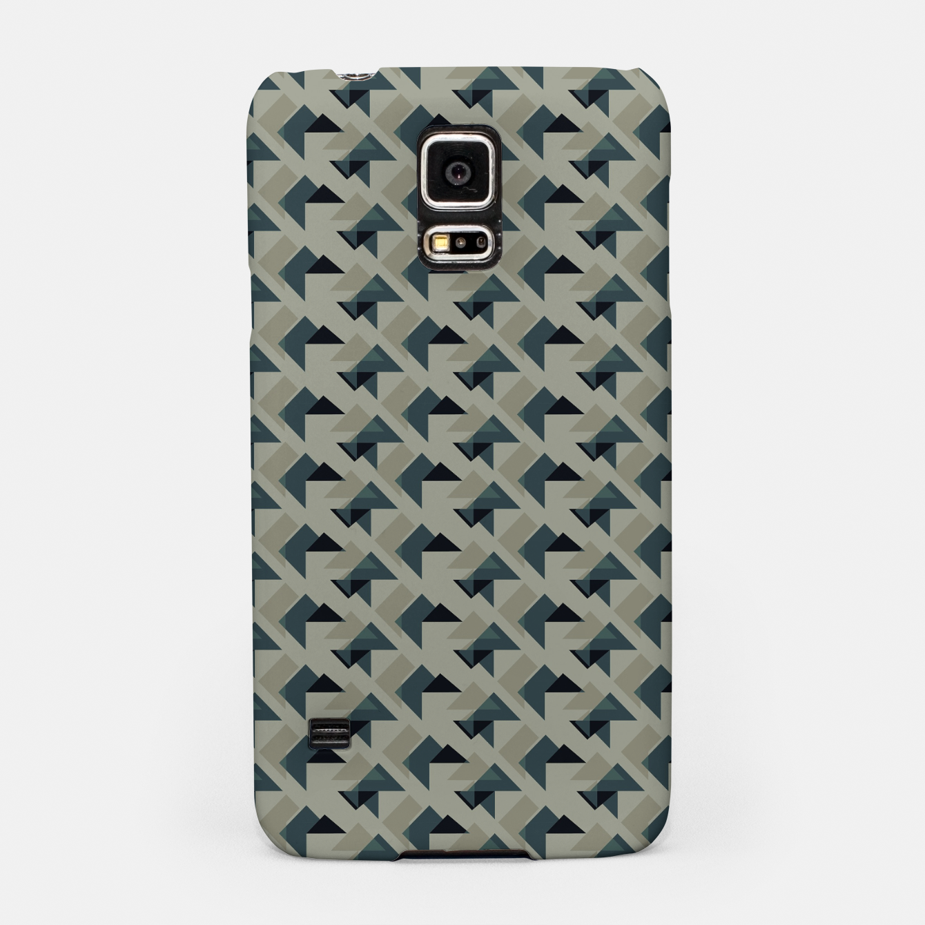 Image of Gray And Back Triangles Samsung Case - Live Heroes