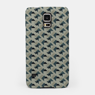 Gray And Back Triangles Samsung Case thumbnail image