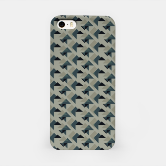 Gray And Back Triangles iPhone Case thumbnail image