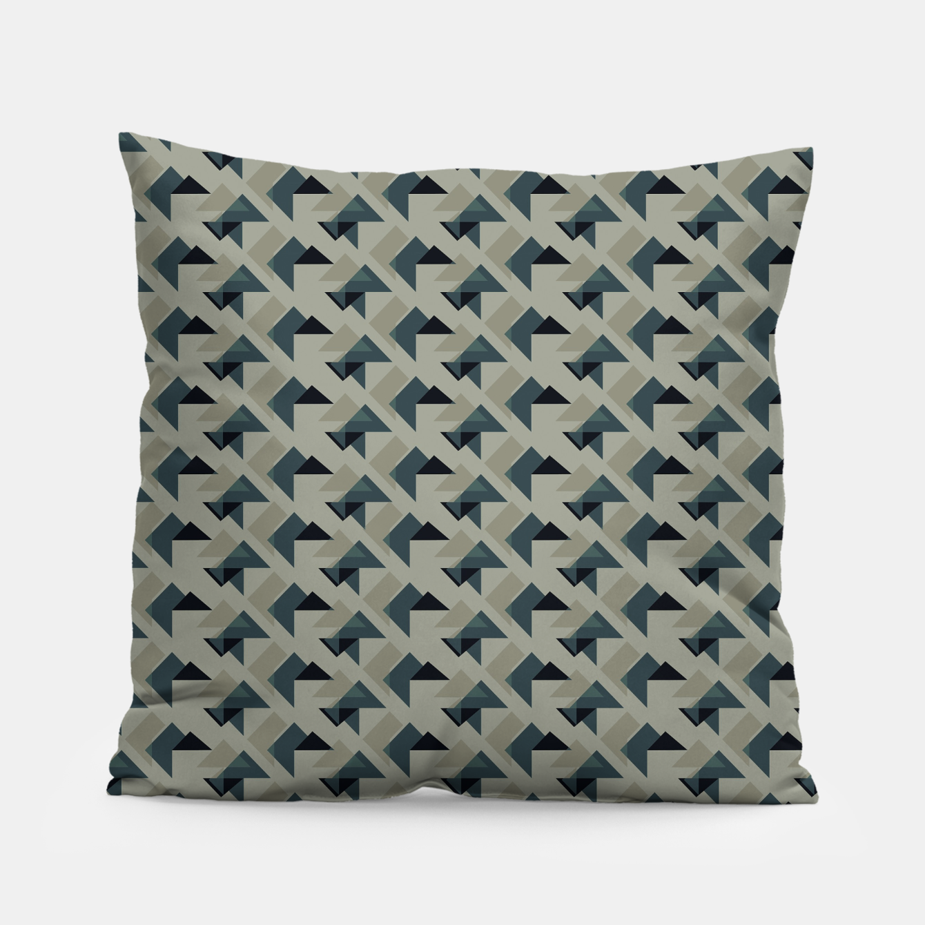 Image of Gray And Back Triangles Pillow - Live Heroes