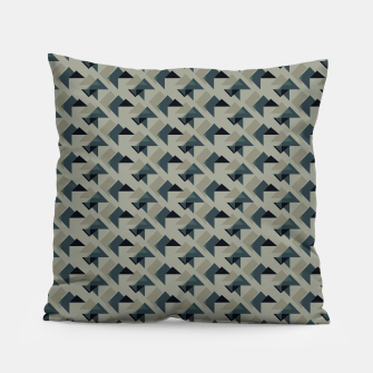 Thumbnail image of Gray And Back Triangles Pillow, Live Heroes