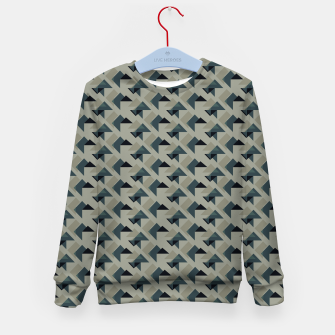 Thumbnail image of Gray And Back Triangles Kid's sweater, Live Heroes