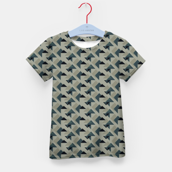 Thumbnail image of Gray And Back Triangles Kid's t-shirt, Live Heroes