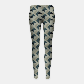 Gray And Back Triangles Girl's leggings thumbnail image