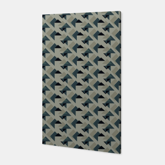 Thumbnail image of Gray And Back Triangles Canvas, Live Heroes