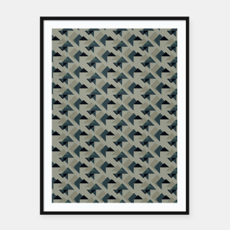 Thumbnail image of Gray And Back Triangles Framed poster, Live Heroes