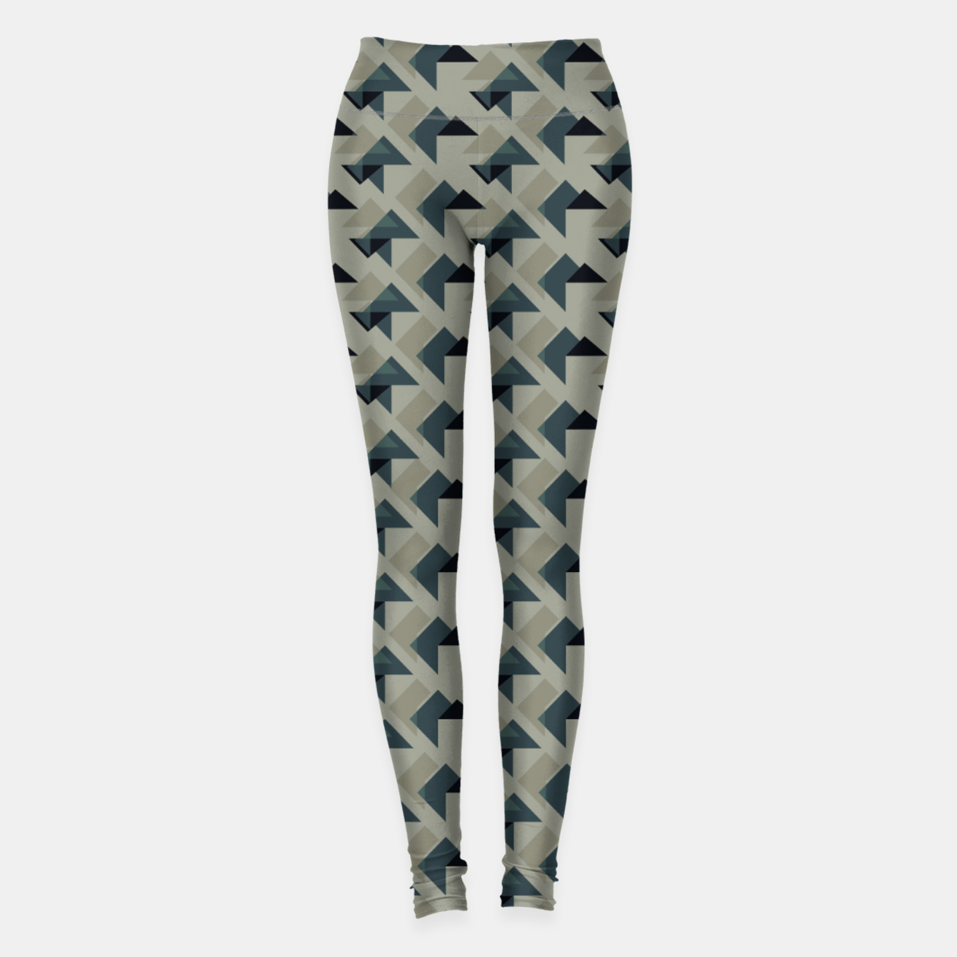 Image of Gray And Back Triangles Leggings - Live Heroes