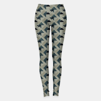 Thumbnail image of Gray And Back Triangles Leggings, Live Heroes