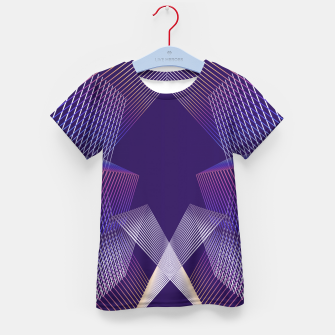 Thumbnail image of Geometric pattern Kid's t-shirt, Live Heroes