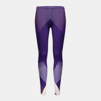 Thumbnail image of Geometric pattern Girl's leggings, Live Heroes