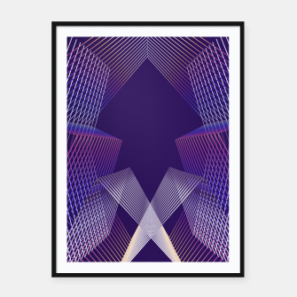 Miniatur Geometric pattern Framed poster, Live Heroes