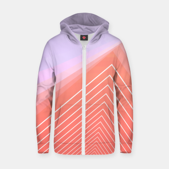 Thumbnail image of Linear geometric minimal Zip up hoodie, Live Heroes