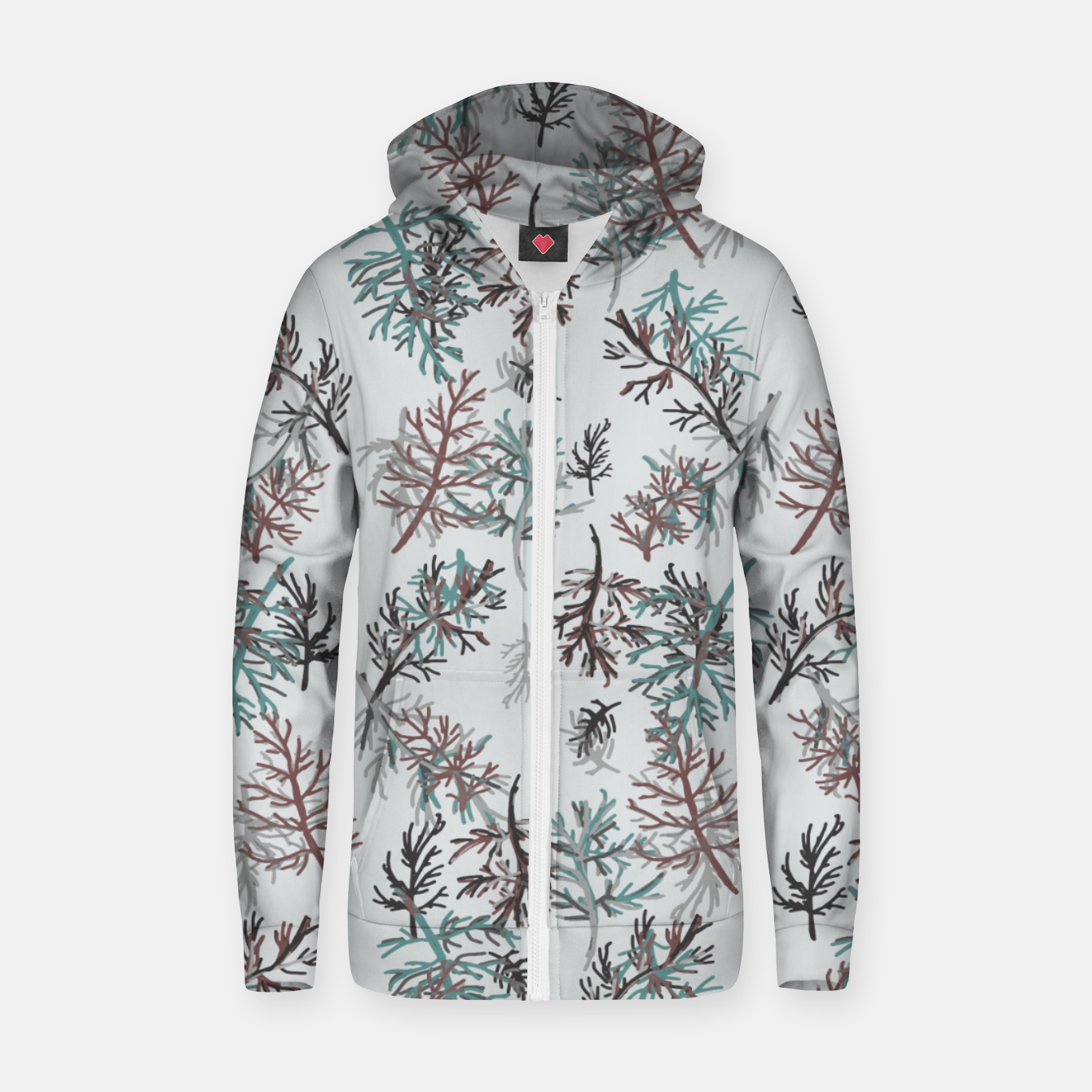 Image of Thuja Leaves Zip up hoodie - Live Heroes