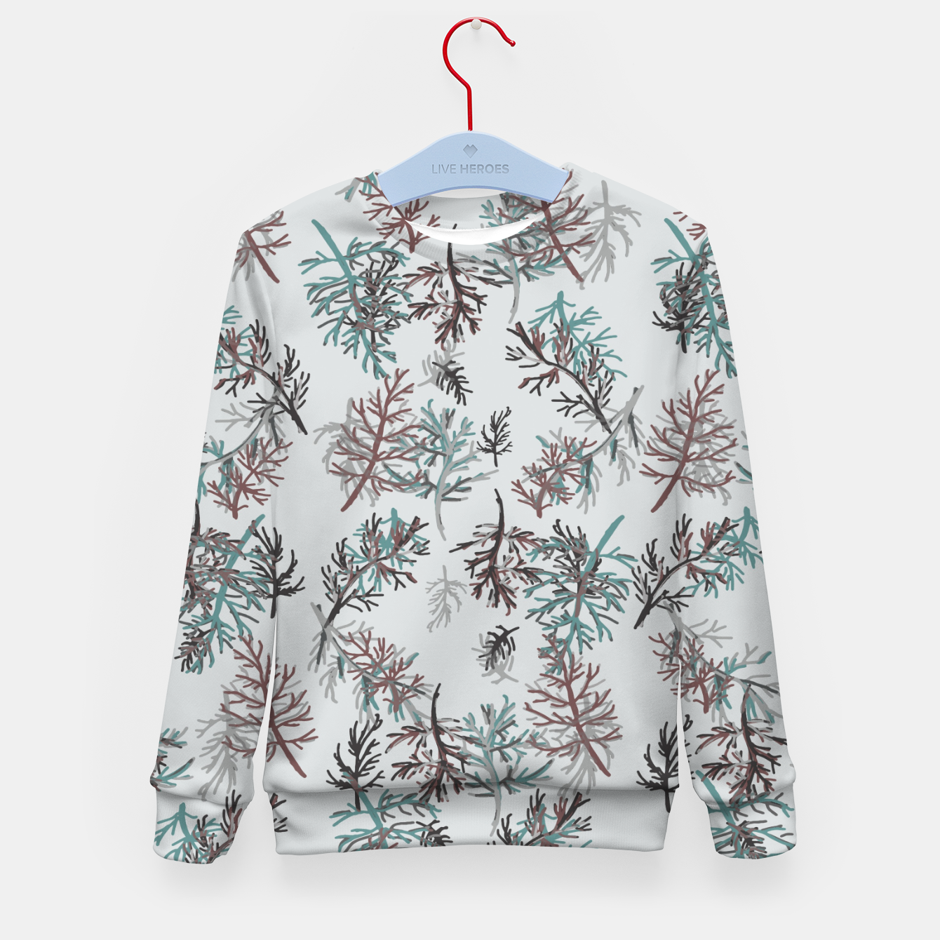 Image of Thuja Leaves Kid's sweater - Live Heroes