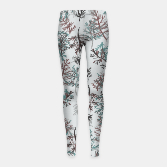 Thumbnail image of Thuja Leaves Girl's leggings, Live Heroes