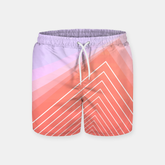 Thumbnail image of Linear geometric minimal Swim Shorts, Live Heroes