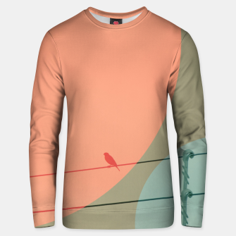 Thumbnail image of Bird on wire and shapes Unisex sweater, Live Heroes