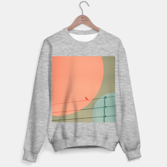 Thumbnail image of Bird on wire and shapes Sweater regular, Live Heroes