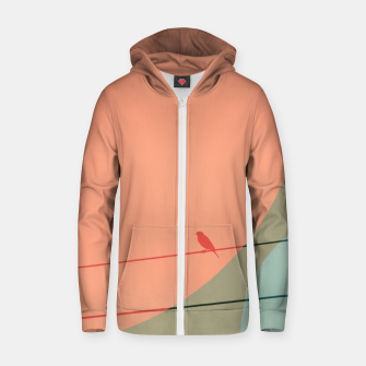 Thumbnail image of Bird on wire and shapes Zip up hoodie, Live Heroes
