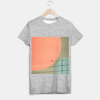 Thumbnail image of Bird on wire and shapes T-shirt regular, Live Heroes