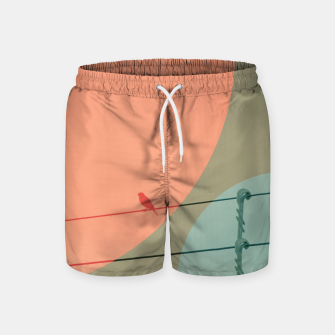 Thumbnail image of Bird on wire and shapes Swim Shorts, Live Heroes