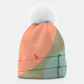 Thumbnail image of Bird on wire and shapes Beanie, Live Heroes