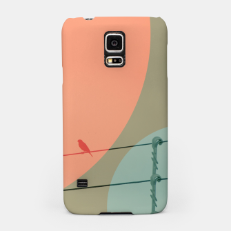 Thumbnail image of Bird on wire and shapes Samsung Case, Live Heroes