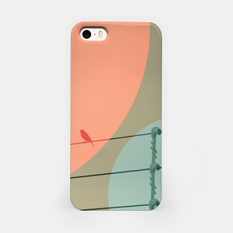 Thumbnail image of Bird on wire and shapes iPhone Case, Live Heroes