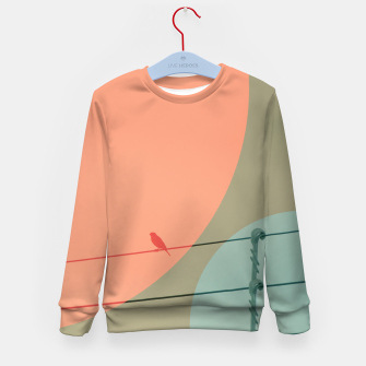 Thumbnail image of Bird on wire and shapes Kid's sweater, Live Heroes