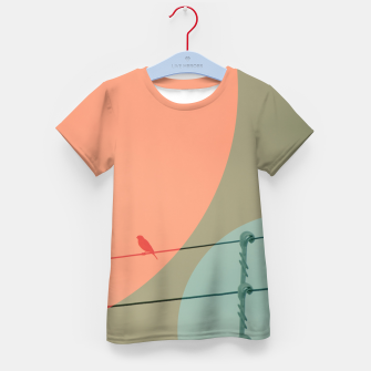 Thumbnail image of Bird on wire and shapes Kid's t-shirt, Live Heroes