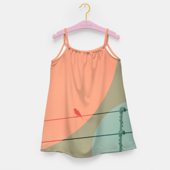 Thumbnail image of Bird on wire and shapes Girl's dress, Live Heroes