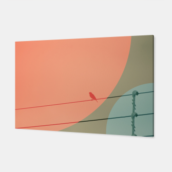 Thumbnail image of Bird on wire and shapes Canvas, Live Heroes