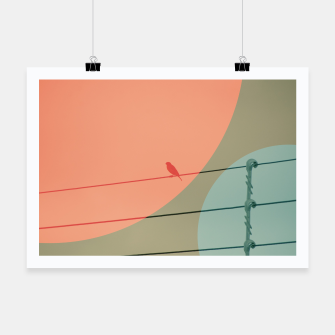 Thumbnail image of Bird on wire and shapes Poster, Live Heroes