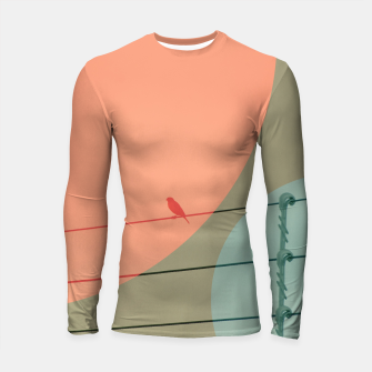 Thumbnail image of Bird on wire and shapes Longsleeve rashguard , Live Heroes