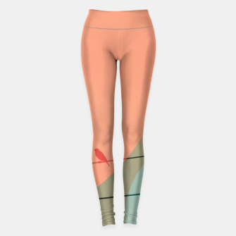 Thumbnail image of Bird on wire and shapes Leggings, Live Heroes