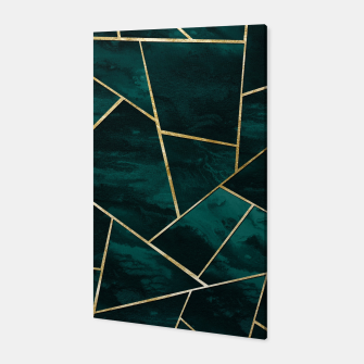 Thumbnail image of Dark Teal Ink Gold Geometric Glam #1 #geo #decor #art Canvas, Live Heroes