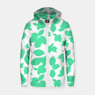 Botanical Motif Print Pattern Zip up hoodie thumbnail image