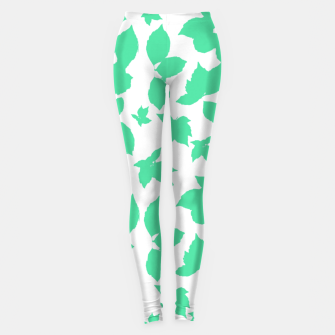 Botanical Motif Print Pattern Leggings thumbnail image