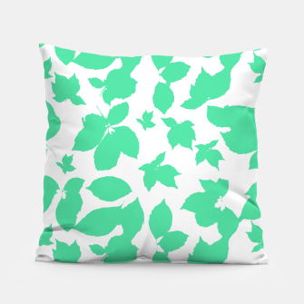 Botanical Motif Print Pattern Pillow thumbnail image