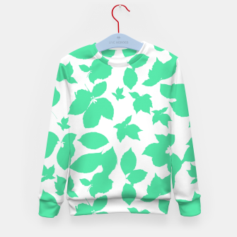 Botanical Motif Print Pattern Kid's sweater thumbnail image