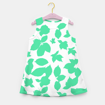 Botanical Motif Print Pattern Girl's summer dress thumbnail image